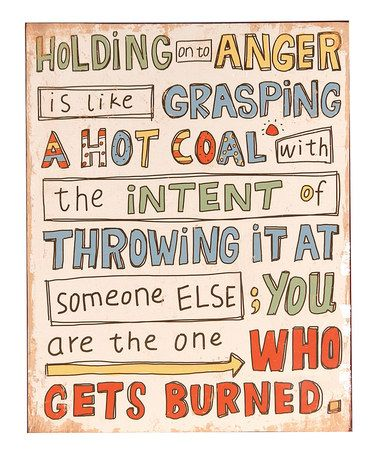 Look at this #zulilyfind! 'Holding on to Anger' Wall Sign #zulilyfinds