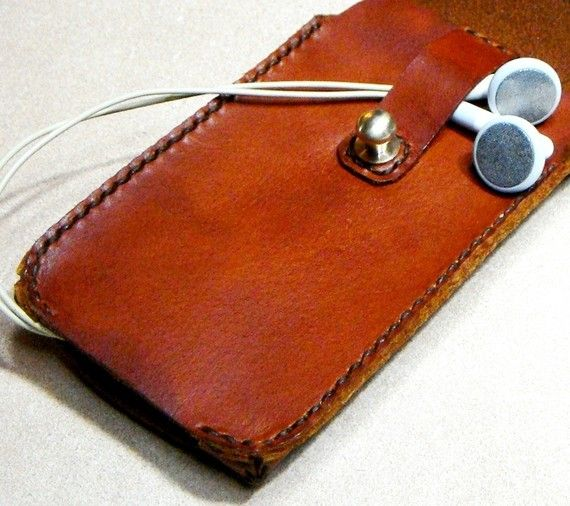 Elegant Brown Leather iPhone 2G/3G/4G Case Hand Made by kiwabags