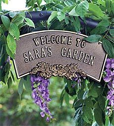 Personalized Arbor Plaque - I've got to get this for Miss Cali's Memory Garden.