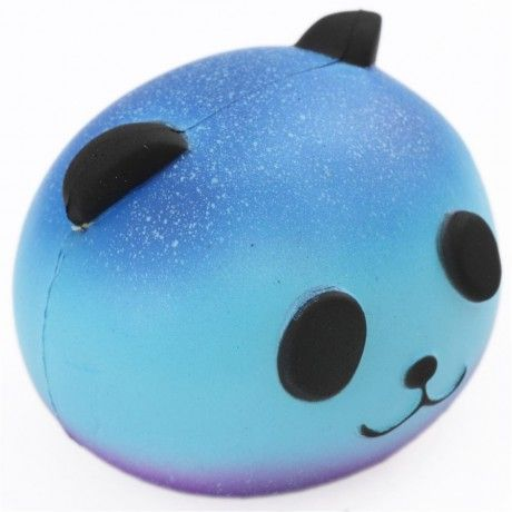 galaxy panda head animal squishy