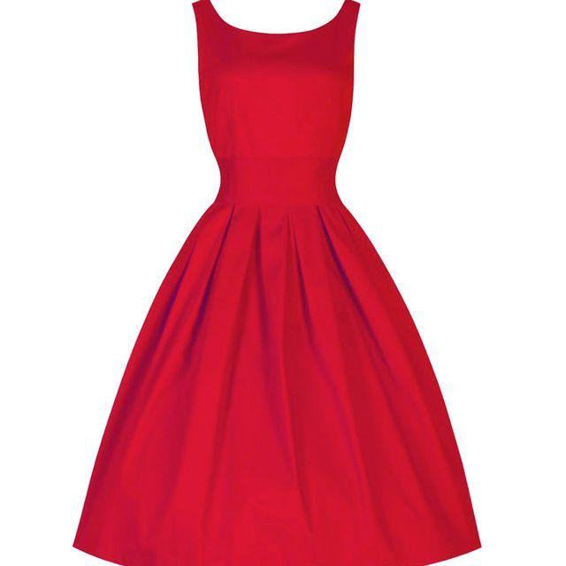 2017 D'été Femmes Robe Noir Rouge D'été Audrey Hepburn 50 s 60 s Vintage Robes Robes Plus Taille Rockabilly Partie robe dans Robes de Femmes de Vêtements et Accessoires sur AliExpress.com | Alibaba Group