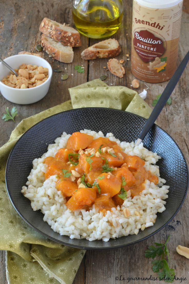 curry de butternut à la cacahuète et coco vegan 1