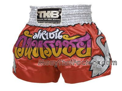 Top King TOP KING Muay Thai shorts - Red - Wan Song Chai for sale.  [TKTBS-027]
