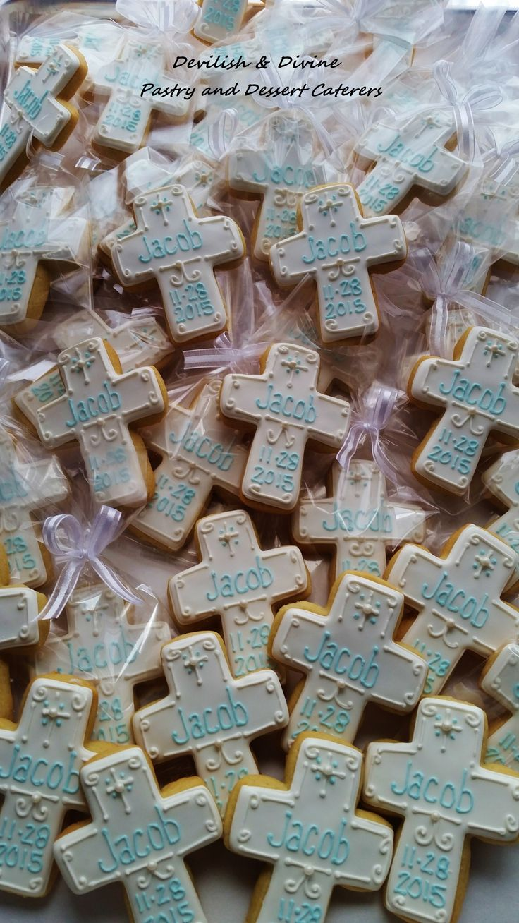 Cross Cookies, cookie favors for Christening