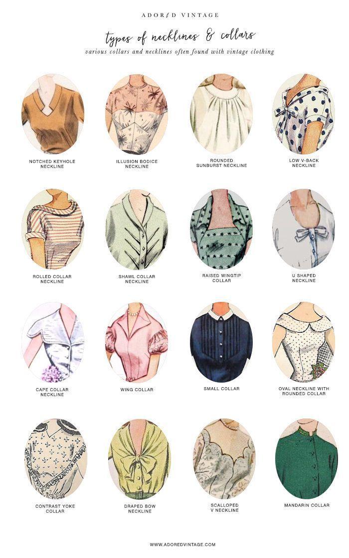 Vintage Halsband- und Halsausschnitt-Anleitung * Finden Sie die Vintage-Ärmel-Anleitung