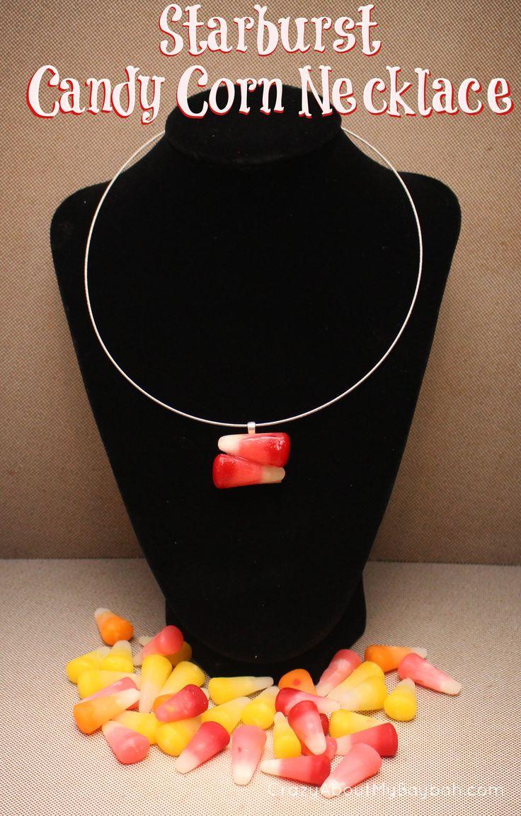 Halloween Crafts: Starburst Candy Corn Jewelry Tutorial #StarburstCandyCorn #sponsored