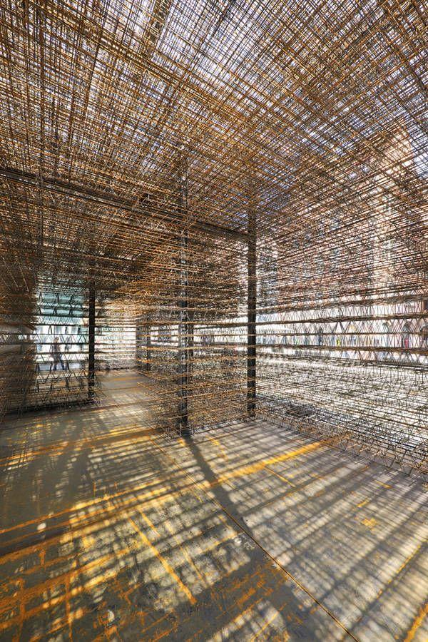 Unschärfe, Temporäre Rauminstallation in Nürnberg, Matthias Loebermann & Institut für Architektur und Städtebau der Hochschule Biberach, Innenraum