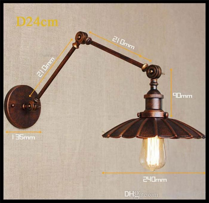 Wholesale cheap wall lights online, brand - Find best 110v 120v 220v 230v 240v wall sconces lamp d34cm rustic industrial retro nostalgia ferruginous decorative wall light sconce fixture at discount prices from Chinese wall lamps supplier - gylighting0717 on DHgate.com.