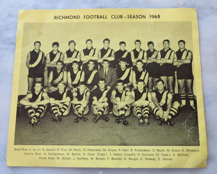 1968 Richmond Football Club - Team