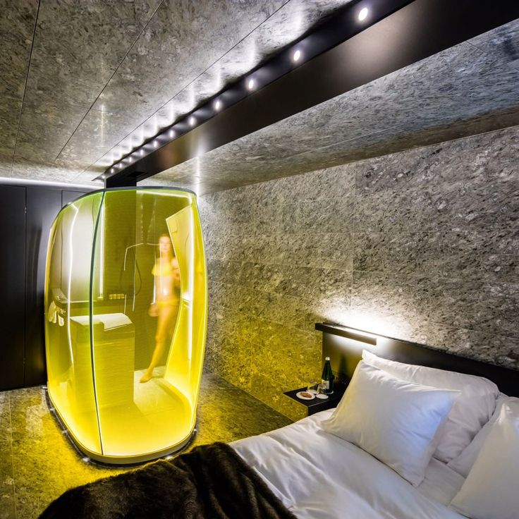 Morphosis designs bedrooms for hotel at Zumthor's Vals spa