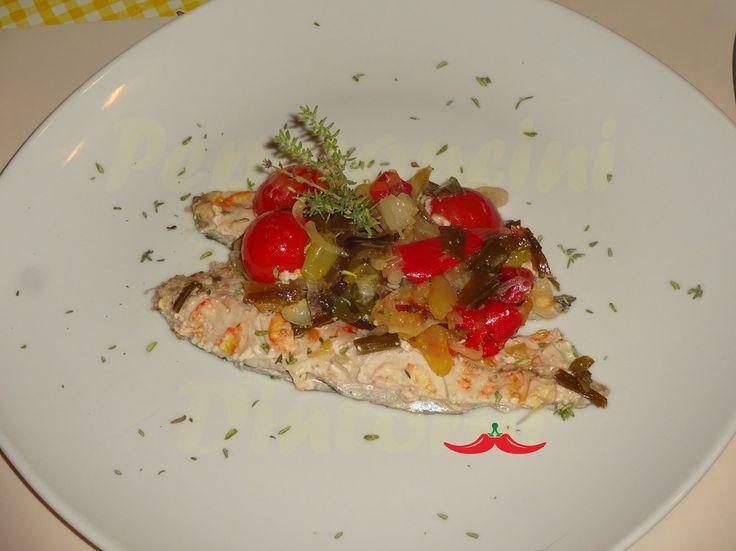 Lanzardo+al+forno+con+verdure