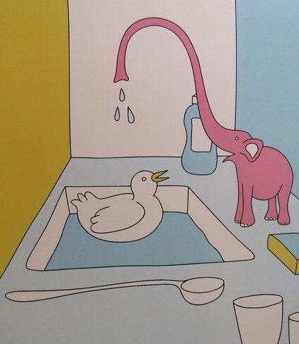 Fucci - nemen van een douche  Fucci is een Fins-Canadese kunstenaar en illustrator bekendst voor zijn levendige post pop-stijl. Fucci de stijl is een unieke klasse van hedendaagse kunst die een verfrissende smaak aan de al te vaak smaken van seksuele expressie brengt. Fucci produceert werk dat is leuk en kleurrijk vet. Een levendige kleurenpalet en minimalistische benadering resultaat in dacht provoceren werken die ingaan op de perversie met humor en onverwachte verfijning. Fucci op dit…