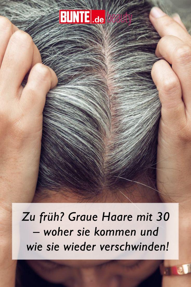 Mit graue frau ursachen 30 haare Graue Haare