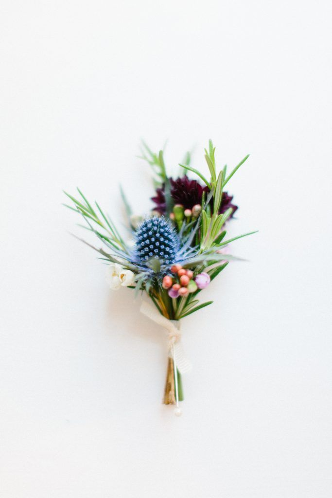 Thistle buttonhole/forage and blossom