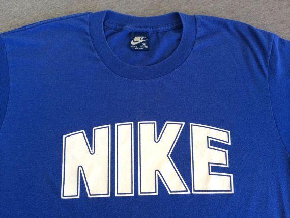 NIKE Blue Tag Tshirt Vintage 80's/ RARE DOME by sweetVTGtshirt