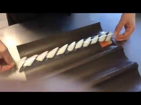 How to make chocolate feathers. Step by step. Шоколадные перья. Шаг за шагом.