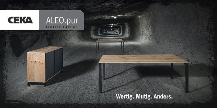 Серия мебели ALEO.pur от CEKA выполнена в смешанной технике из кажущихся скромными чистых материалов - фанера из приморской сосны и металлические тонированные черные опоры,                             покрытые прозрачным лаком - осознанно притягивают взгляд. Контраст грубой древесины в сочетании с блестящей, полупрозрачной конструкцией рамы обеспечивает захватывающее впечатление с четкими формами.