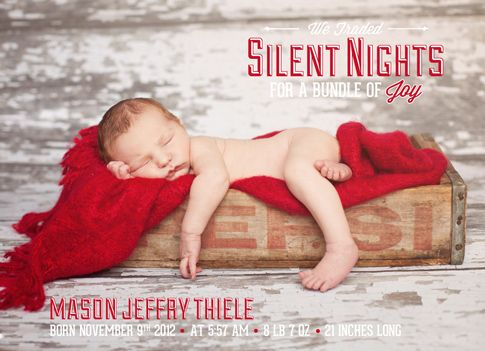 46 best Christmas and Holiday Birth Announcements images on – Holiday Birth Announcements