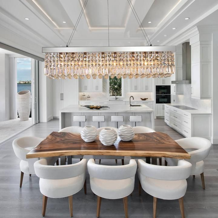 Rectangular Crystal Chandelier Dining Room Beautiful Dining Rooms Crystal Chandelier Dining Room Dining Room Design