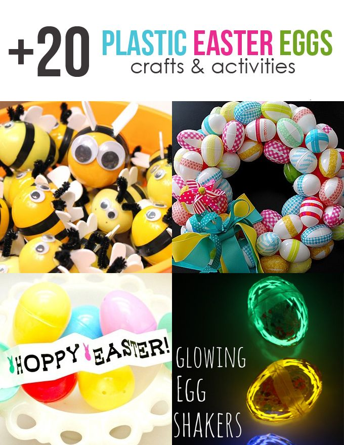 20+ Plastic Easter Egg Crafts & Activities for Kids