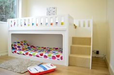 Make Your Kids Healthy and Active-Bunk Beds With Stairs #BunkBeds #KidsBeds #Beds #Beddings