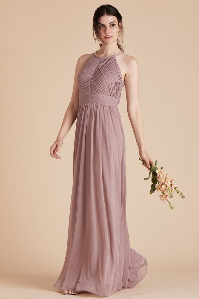 52a1cd2bbd3 Birdy Grey Bridesmaid Dress Under  100 - Monica Dress in Mauve - Classic  Gown With Pleated