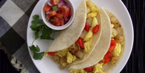 Egg and Tater Breakfast Tacos from Poor Girl Eats Well cheap