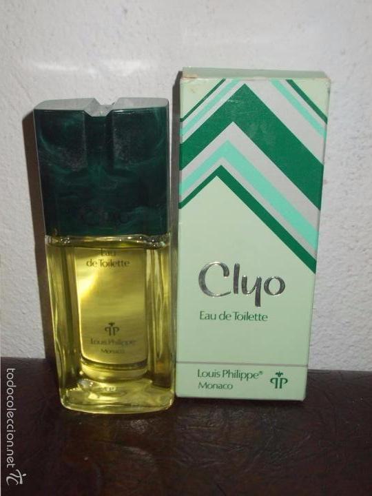 BOTELLA O FRASCO VINTAGE DE COLONIA EN SU CAJA A ESTRENAR CLYO LOUIS PHILIPPE MONACO (Botellas, Cajas y Envases - Miniaturas de Perfumes.)