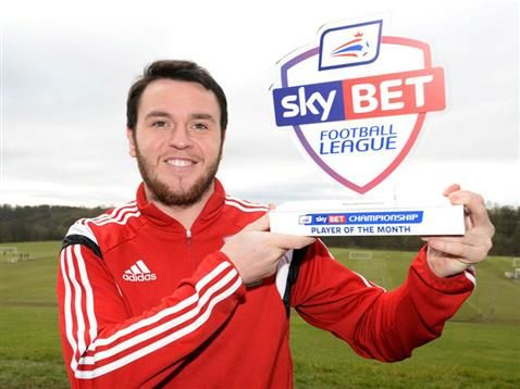 Middlesbrough's Lee Tomlin has been named the Sky Bet Championship Player of the Month for January.