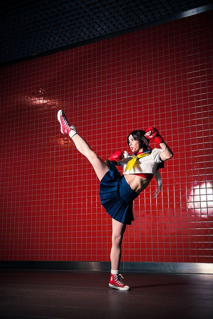 Sakura Kasugano, Street Fighter | London Expo 2013 #Cosplay