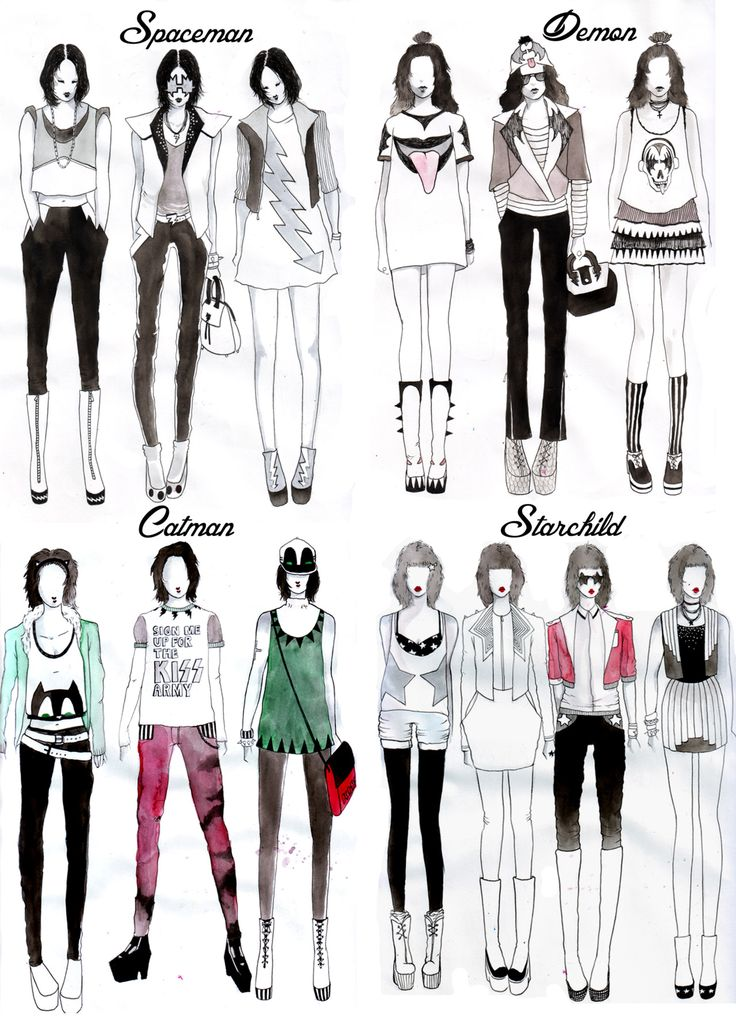 Kiss Inspired Casual Wear Fashion Sketch Pinterest Behance Casual And Clothes