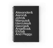 Hamilton Characters Spiral Notebook