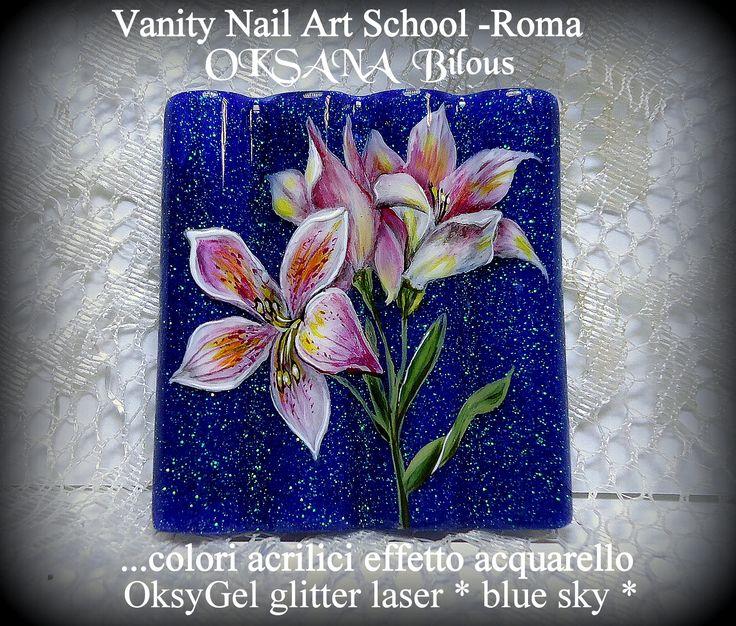 ....effetto acquarello con colori acrilici....