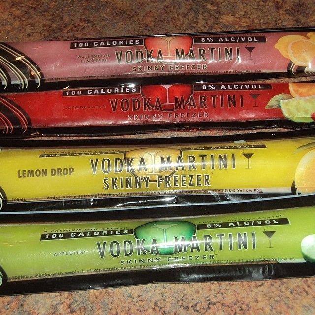 Vodka martini freeze pops