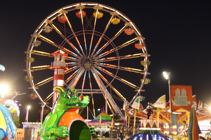 Carnival rides at the Ventura County Fair fun times. I've had the best times there! <3