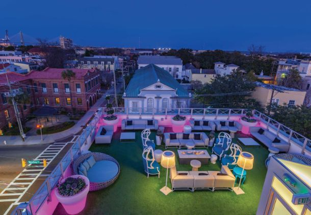 The Grand Bohemian Hotel Charleston, Autograph Collection welcomes travelers here to the historic district with luxury accommodations and boutique touches.