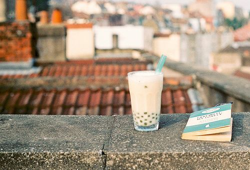 books, bubble tea, and roof tops.