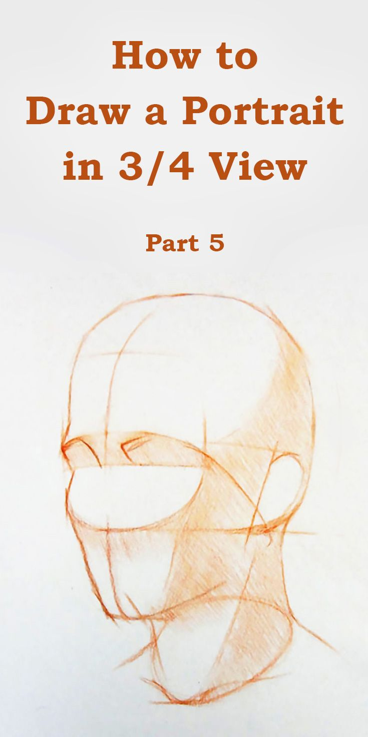 How To Draw A Portrait In Three Quarter View Part 5