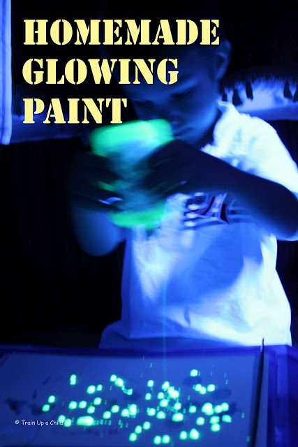 Homemade Glowing Paint!