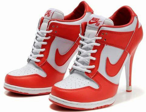 Discount Nike Dunk Heels Low Be True To Your School University Red White