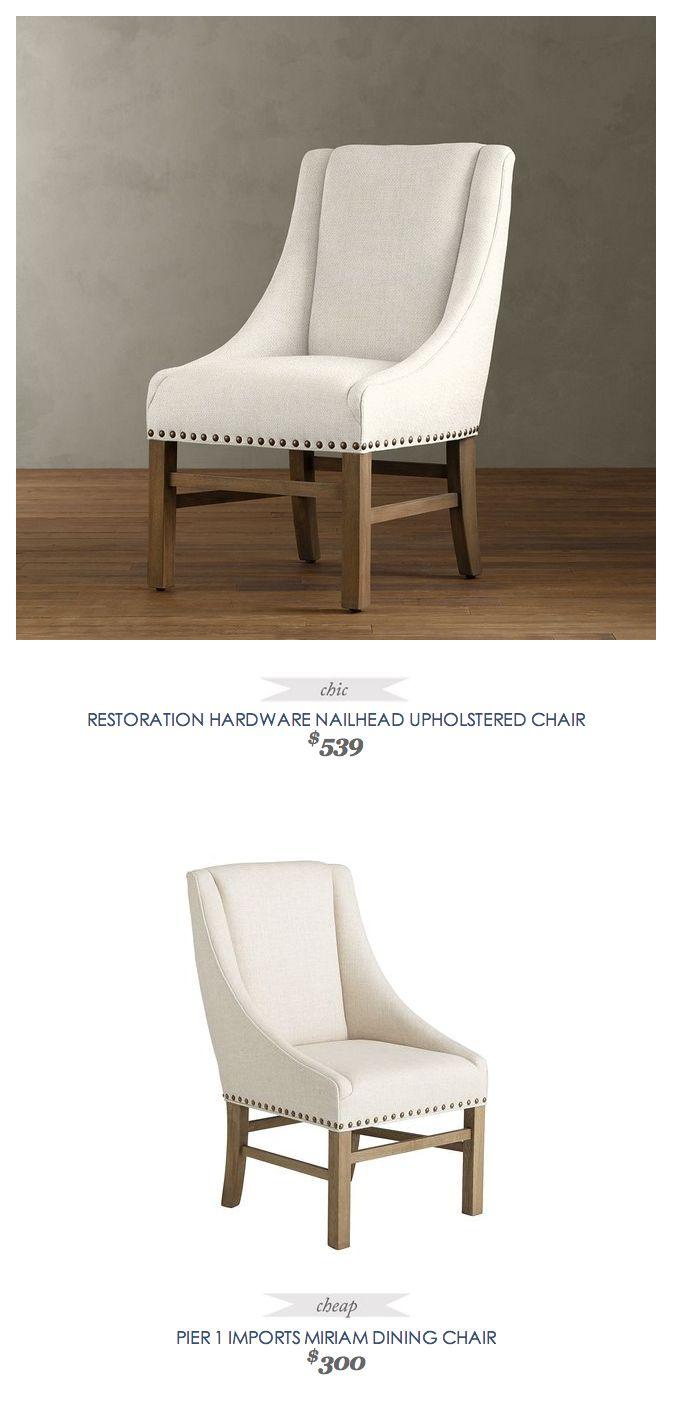 Copycatchicfind RestorationHardware Nailhead Upholstered Chair 539