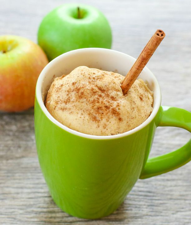 Skinny Apple Spice Mug Cake | Kirbie's Cravings | A San Diego food blog