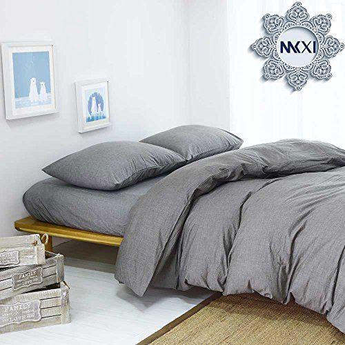Solid Elegant Comforter Cover, MKXI Home Bedroom Cotton Grey Man Duvet Cover Set #Solid #Elegant #Comforter #Cover, #MKXI #Home #Bedroom #Cotton #Grey #Duvet #Cover