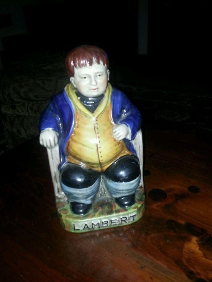 "☆VINTAGE~ENGLISH PORCELAIN~10"" FIGURINE~DANIEL LAMBERT~LARGE FAT MAN☆ in Collectibles, Decorative Collectibles, Decorative Collectible Brands | eBay"