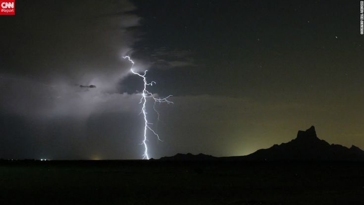 """<a href=""""http://ireport.cnn.com/docs/DOC-890278"""">Bill Vaughn</a> and his wife were hoping to photograph the Perseid meteor shower from Red Rock, Arizona, in August 2012. """"We didn't catch many meteors, but did see that wonderful storm,"""" he said. """"The natural light show was very pleasing."""""""