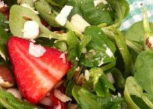 Looks like Father's Day picnic fare to me. Strawberry Salad with Mache, Brazil Nuts and Balsamic Vinaigrette via @Meatless Monday