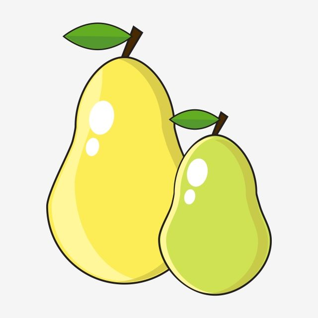 Pear Clipart Vector Png Element Fruit Clipart Pear Yellow Pear Png And Vector With Transparent Background For Free Download Clip Art Fruit Cartoon Cartoon Background
