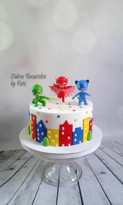 PJ Mask cake | Pj masks birthday cake, Boy birthday cake ...