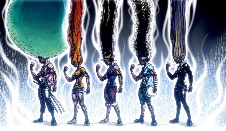 Anime One Piece  Cheveux Power Amusant Fond d'écran