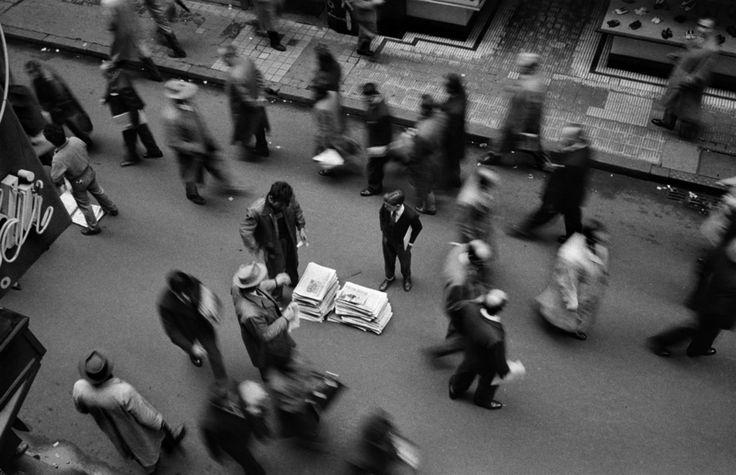 Newspaper Seller on Florida Street, Buenos Aires, Argentina, René Burri, 1958